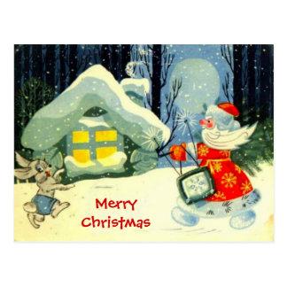 De Groeten van seizoenen, Kerstman op het werk Briefkaart