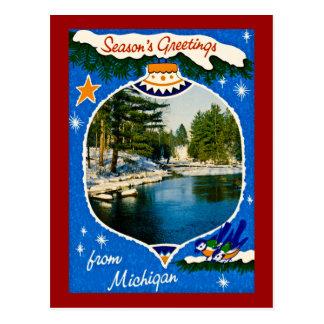 De Groeten van seizoenen van Michigan Briefkaart