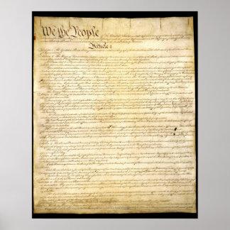 De grondwet van de V.S. Poster