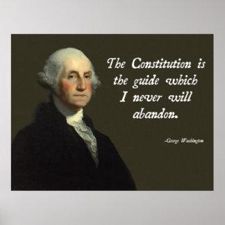 De Grondwet van George Washington Poster