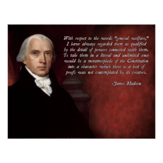 De Grondwet van James Madison Poster