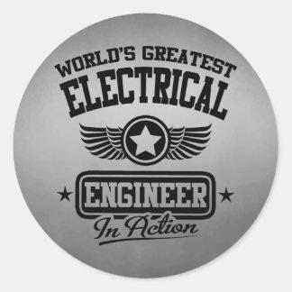 De Grootste ElektroIngenieur van de wereld in Ronde Sticker
