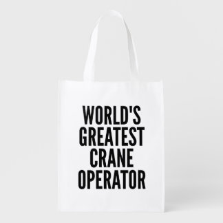 De Grootste Kraanmachinist van werelden Boodschappentas