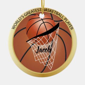 De grootste Speler van het Basketbal Rond Keramisch Ornament