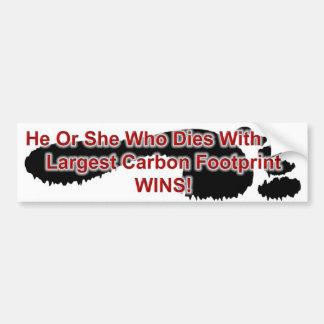 De grootste Voetafdruk van de Koolstof wint Bumpersticker