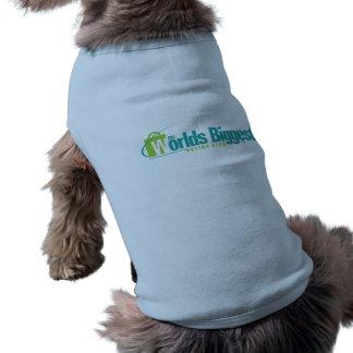 De grootste Werelden Het Blauw van de Laag van he Honden Shirt