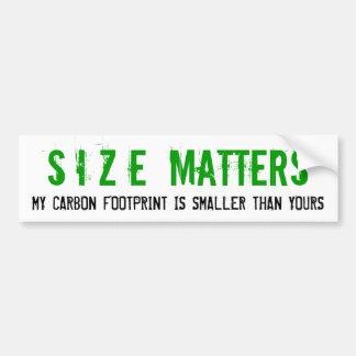 De grootte is de Voetafdruk van de Koolstof van be Bumpersticker