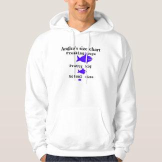 De groottegrafiek van de visser hoodie