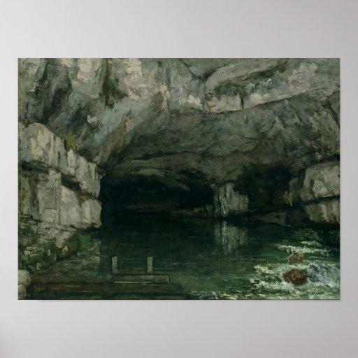 De grot van loue 1864 print zazzle - Grot ontwerp ...