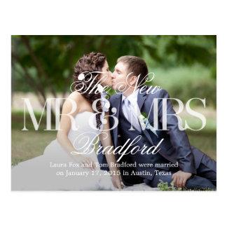 De grote Aankondiging van het Huwelijk van het Briefkaart