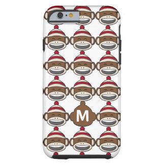 De grote Aap Emoji van de Sok van de Glimlach Met Tough iPhone 6 Hoesje