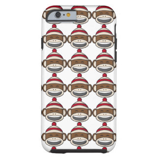 De grote Aap Emoji van de Sok van de Glimlach Tough iPhone 6 Hoesje