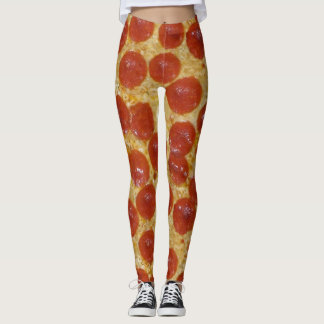 de grote beenkappen van de pepperonispizza leggings