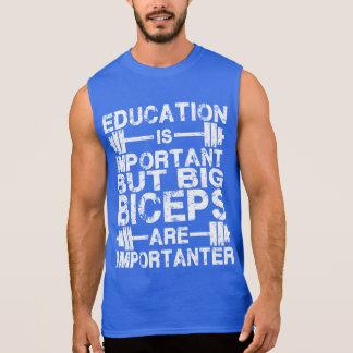 De grote Bicepsen zijn Importanter dan het T Shirt