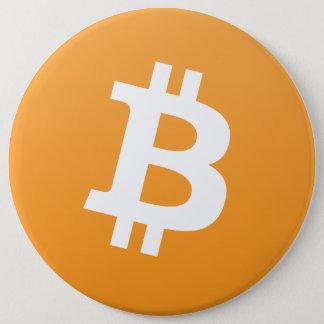 De grote bitcoinknoop   pronkt met uw liefde van ronde button 6,0 cm