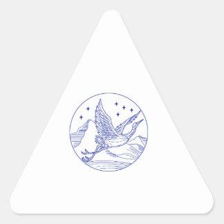 De grote Blauwe MonoLijn van de Cirkel van de Sticker