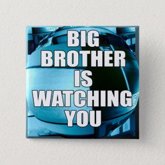 De grote Broer let op u Vierkante Button 5,1 Cm