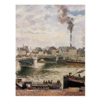 De grote Brug, Rouen door Camille Pissarro Briefkaart