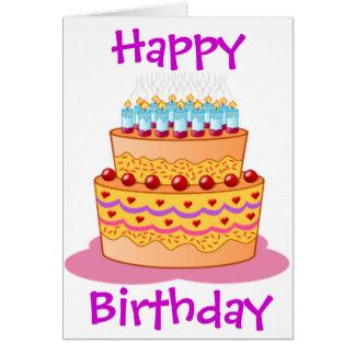 De grote Cake van de Verjaardag Kaart
