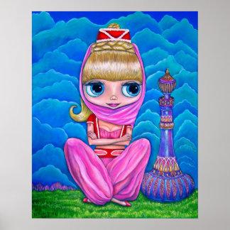 De grote Danser van de Buik van Doll van het Genie Poster
