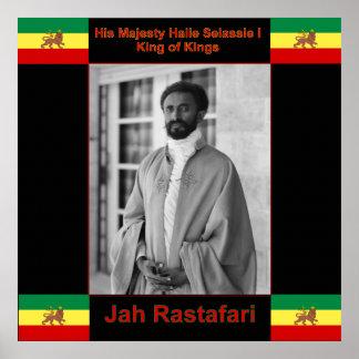 De Grote Druk van Selassie Jah Rastafari van Haile Poster