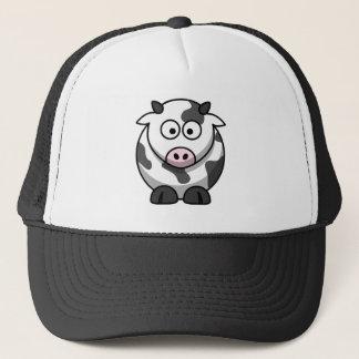 De grote Eyed Grappige Ronde Koe van de Cartoon Trucker Pet