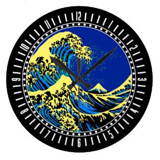 De grote Golf Hokusai in de Wijzerplaat van de Grote Klok
