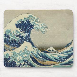 De Grote Golf van Hokusai van Kanagawa Mousepad Muismat