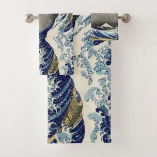 De grote Golf van Kanagawa Bad Handdoek