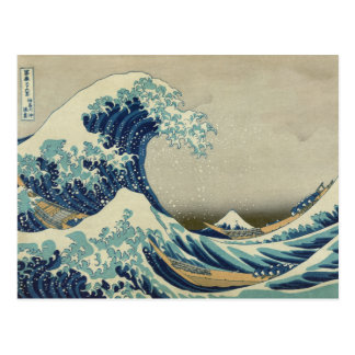 De grote Golf van Kanagawa Briefkaart