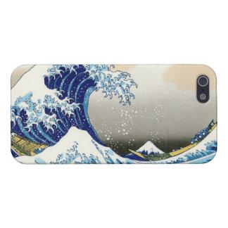 De grote golf van Kanagawa Katsushika Hokusa iPhone 5 Cases