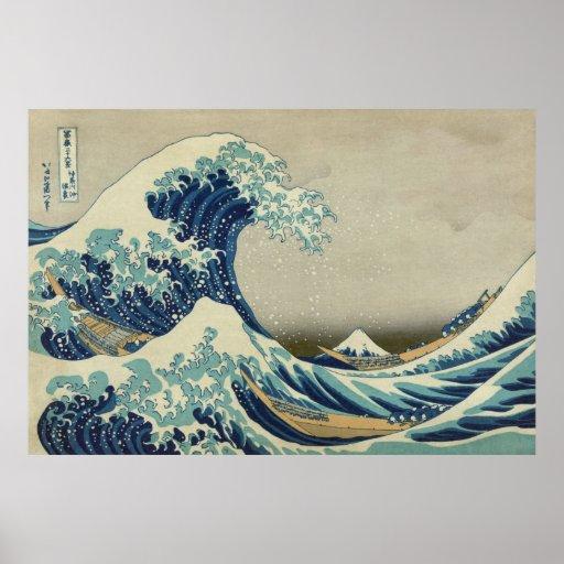 De grote Golf van Kanagawa Afdruk