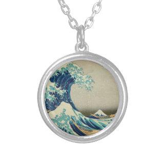 De grote Golf van Kanagawa Zilver Vergulden Ketting