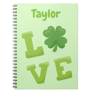 De grote Groene Liefde personaliseert St Patricks Ringband Notitieboek