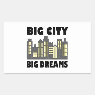 De grote Grote Dromen van de Stad Rechthoekige Sticker