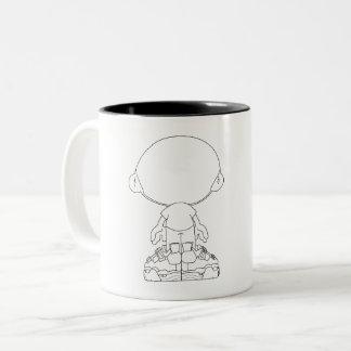 De grote HoofdMok van de Koffie Tweekleurige Koffiemok