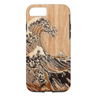 De grote Houten Stijl van het Bamboe van de Golf iPhone 7 Hoesje