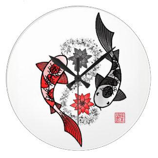 De Grote Klok van de Vissen van Yang Koi van Yin