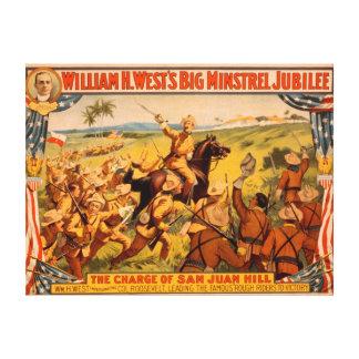 De grote Last van het Jubileum van de Minstreel va Stretched Canvas Afdrukken
