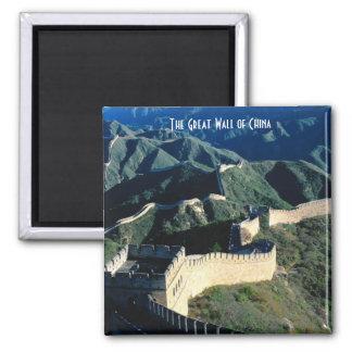De grote Muur van China Vierkante Magneet