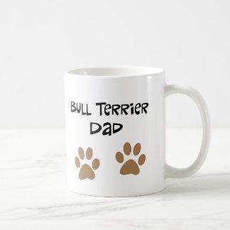 De grote Papa van Pawprints Bull terrier Basic Witte Mok