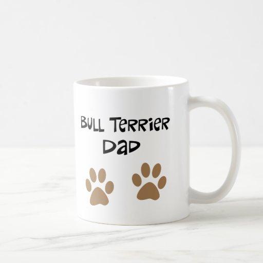 De grote Papa van Pawprints Bull terrier Mok