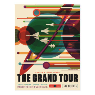 De grote Reis - Retro Briefkaart van het Poster