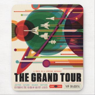 De grote Reis - Retro Poster Mousepad van de NASA- Muismatten