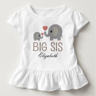 De grote Sis Leuke Olifant Gepersonaliseerde Kinder Shirts