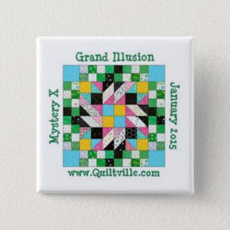 De grote speld van de Illusie Vierkante Button 5,1 Cm