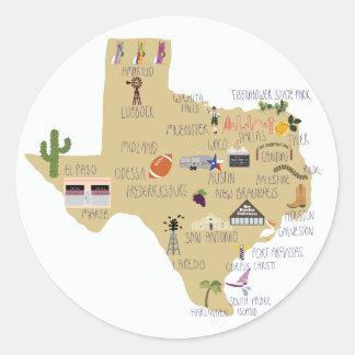 De grote Staat van de stickers van Texas