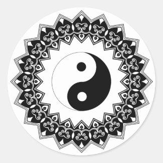 De Grote Sticker van Yin Yang van Mandala