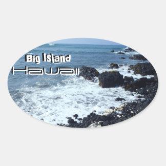 De grote stickers van het het zandstrand van Hawaï