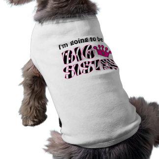 De grote T-shirt van de Hond van de Prinses van de Mouwloos Hondenshirt